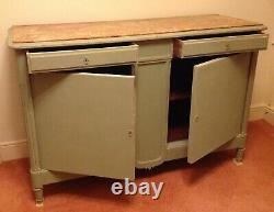 Antique French marble topped buffet Sideboard Original Glazed Top Available