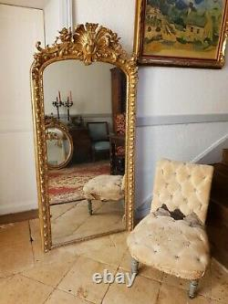 Antique Large French Rococo, Louis XV Revival Mirror