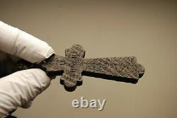Antique Old Victorian French Vulcanite Mourning Black Ebonized Wood Rosary Beads