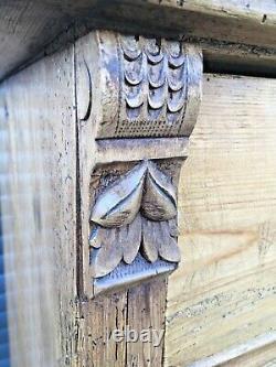 Antique Pine Dresser Victorian Chiffonnier French European Sideboard