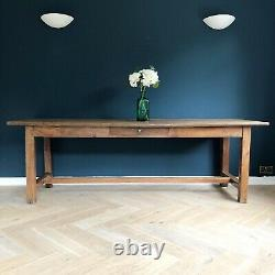 Antique Refectory Table French Oak Rustic Farmhouse Dining Tables Wooden Wood