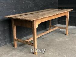 Antique Rustic French Kitchen Farmhouse Oak Dining Table C1850