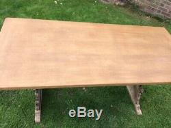 Antique. Super Quality Oak Refectory Dining Table Seats 6