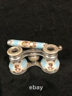 Antique Victorian Era Serves Style French/Russian opera Lorgnette binoculars
