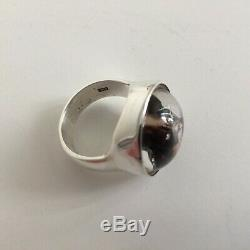 Antique Victorian Essex Crystal & Sterling Silver'French Bulldog' Ring A