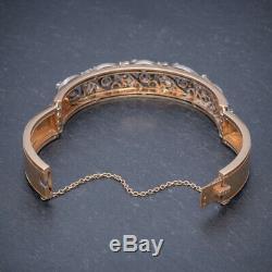 Antique Victorian French Diamond Bangle 18ct Rose Gold Circa 1900