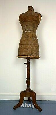 Antique Victorian French Dressmakers Tailors Dummy Mannequin by Stockman