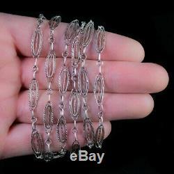 Antique Victorian French Guard Chain Silver Circa 1880