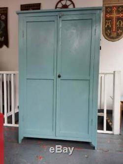 Antique Victorian French Larder/Pantry Cupboard, Original Paint. Kitchen/Vintage