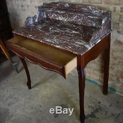 Antique Victorian French Marble topped Console Table Writing Desk