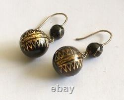 Antique Victorian French Pique Earrings