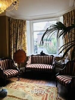 Antique Victorian/French/regency Mahogany 3 Piece Suite