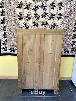 Antique Victorian Pine French Pine Kitchen Larder Linen Cupboard