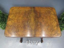 Antique Victorian Walnut Inlaid Games Table Sewing Table French Table Superb
