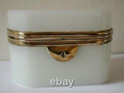 Antique Victorian White Opaline French Trinket Box Casket Palais Royal Jewelry