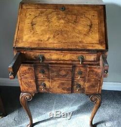 Antique Vintage Bureau Ladies Writing Desk Walnut VGC