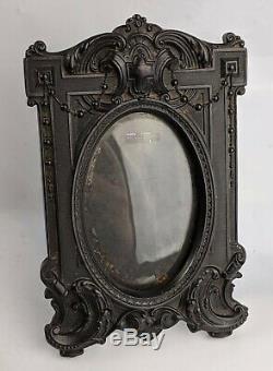 Antique Vulcanite / Gutta Percha French Photo Frame c19th Victorian Picture Fine