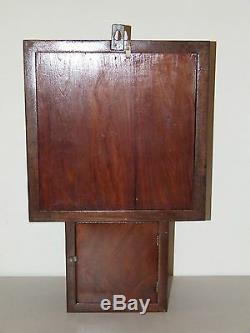 Antique Working 1840s Victorian Inlaid Angel Cherubs French Regulator Wall Clock