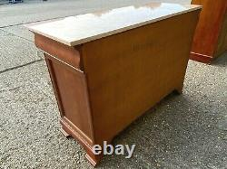 Antique empire regency style marble topped sideboard buffet cabinet Delivery