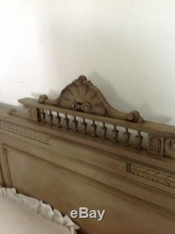 Antique french bed with slat base