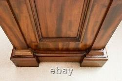 Antique mahogany French-polished pedestal knee hole desk late Victorian