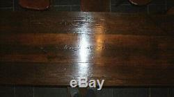 Antique oak pitch pine 3 plank REFECTORY TABLE rustic 2m kitchen dining seats 8
