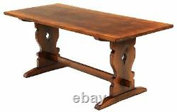 Antique quality oak reproduction refectory dining table 6
