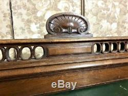 Architectural salvage shell pediment Antique french gothic panel molding trim