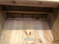 Beautiful Antique Childs French Pine Wardrobe with top and bottom drawers with key