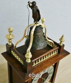 Beautiful Antique French 8Day Striking Walnut & Bronze Automaton Bracket Clock