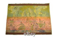 Beautiful Antique Woven French Victorian Tapestry Made In France 28 x 38