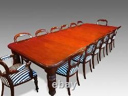 CMC 8ft to 20ft plus Grand mahogany dining table range, pro French polished