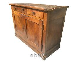 Charming Antique Victorian French Chestnut Farmhouse Storage Buffet Cupboard