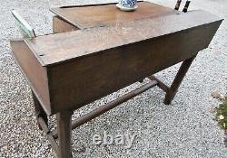 Desk, shop counter, 19c oak, french, Reception desk, console table, side table