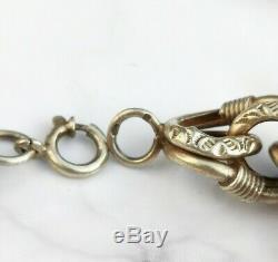 Fabulous Antique Victorian Chunky French Silver Gilt Vermeil Bracelet