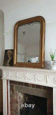 French 19th Century Louis Foxed Gilt Mirror