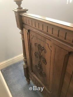 French Carved Walnut Double Bed Very Beautiful