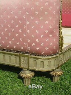 French Corbeille Standard Double Bed Original Paint and Upholstery