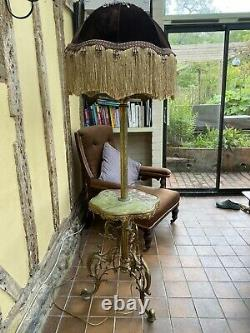 French Louis XV Gilt Floor Lamp Lamps Lighting And Shade Antique