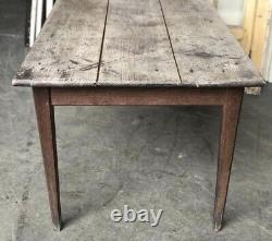 French Rustic Farmhouse Kitchen Dining Table 18th Century