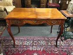 French Style Kingswood Desk With Brass Decoration