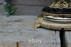 French cobalt blue porcelain victorian romantic centerpiece bowl satyr heads