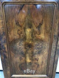 Genuine Antique French Victorian Armoire Walnut Wardrobe