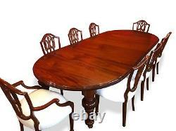 Grand William IV Style Mahogany Table Professionally French Polished