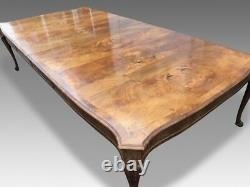 HUGE and Magnificent rare 14ft Burr Walnut dining table pro French polished