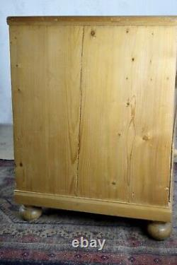 Huge Antique Victorian Pine Plan Chest Bank Drawers Rustic Country House French