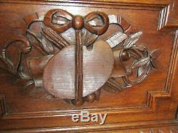 Huge beautifully carved oak French glazed library bookcase C 1900, Flat pack