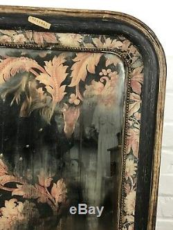 Huw Griffith Antique Textile French Distressed Mirror Decorative Signed C19th