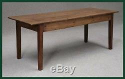 LARGE PINE FRENCH FARMHOUSE KITCHEN TABLE 8ft 6 BY 39