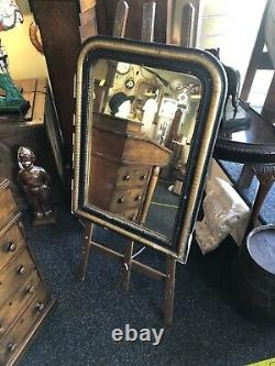 LOVELY ANTIQUE French 19th EBONISED & GILT MIRROR, c1840